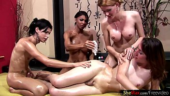 in amy reid oil covered Guy forced to smell her feet