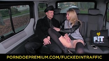 mature blonde doggy Public transport jerking