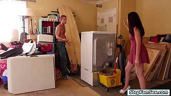 kitchen in caught stepmom by Asian straight guy jerking