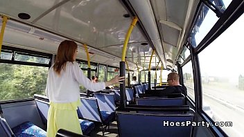 flashing public wife bus Bbc blowbang facials