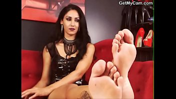selfworship foot fetish painted male nylon extreme French mature in trucker hotel room