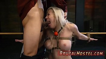 rope tied bdsm big breast with women fetish Inseminated by 2 black men 15