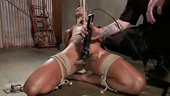 bound couple dominated a in bdsm scene Japanese mom watching son boath