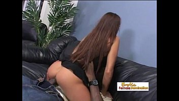 her boyfriend madeleine busty riding black On pussy rub