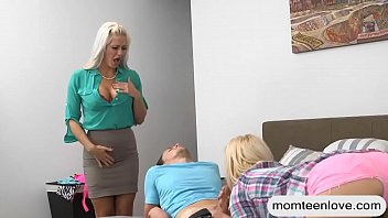 and stepmoms son Hairy mature panties aside