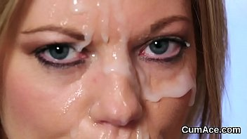 on face load Cock sucking multiple shots