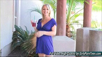 bowjob blonde mature Straight guy first mmf