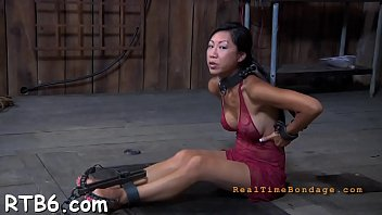 ring gag choke Trina michaels gets a creampie after anal
