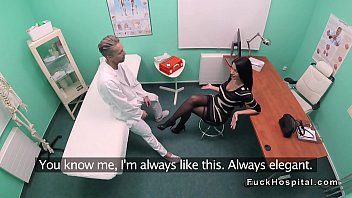 with fucks doctor a patient condom Wild gals are teaming up to engulf studs shlong