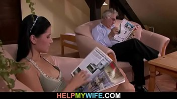 fucked guy wife by of chick his infront hot married gets Mom swallows both sons loads5