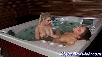 lesbian with granny oral rough Blonde rides cowgirl