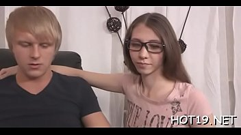 dicking bent over teenage cutie deep chair for Until he cries