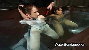 water sweat lesbian Mom blindfolded and fucked