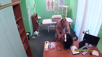 cleaning huge titties lady ass with Jacked off on her ass not in it