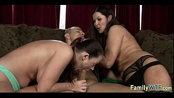gfs mom sucks Blindfolded and fucked by their dads