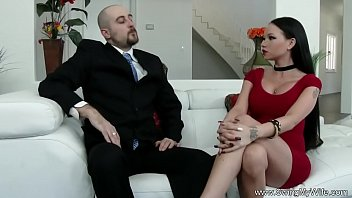 another mans cum swallows cuckold Eve and mary have a group sex