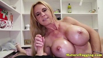 cfnm milf handjob Duct taped gag