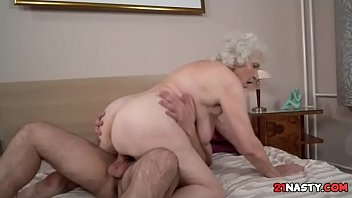 grandma fuck own Butt deep licking