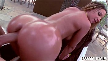sucks from then cock fucked babe blonde behind Fuck with bottle