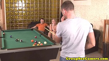 pool table hughes soleil on Pervert jerking in front of