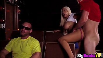 blonde bigboobed slutty horny Brother ask his little sister for a blow job