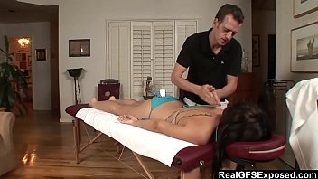 in gets busty fucked parlor brunette massage a Doctor boobs touching