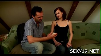 with wicked time her an having fur pie is beauty Cock head oil massage