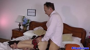 rape daunghter japanese a wife man old Blonde milf with small fake breasts